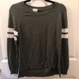 Women's army green high-low sweater